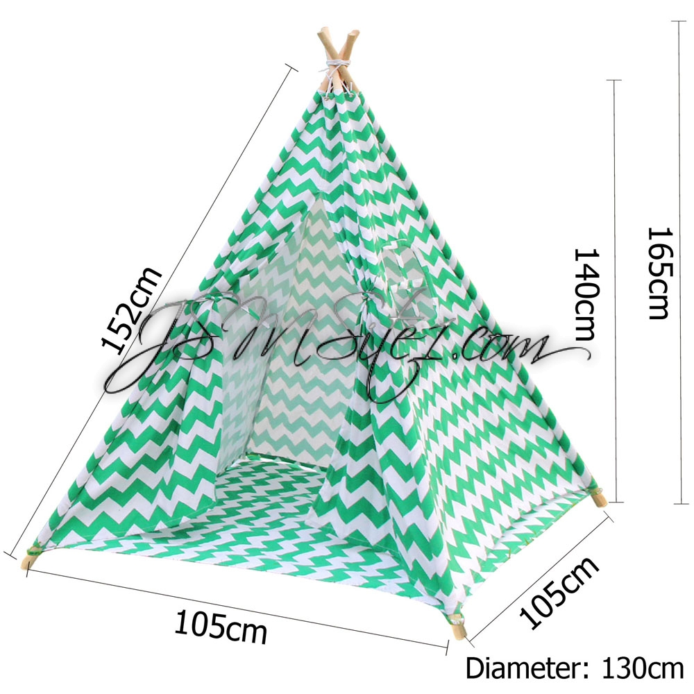 Teepee tent in green zig zag pattern  sc 1 st  JSMsite1.com & Teepee Tents - JSMsite1.com